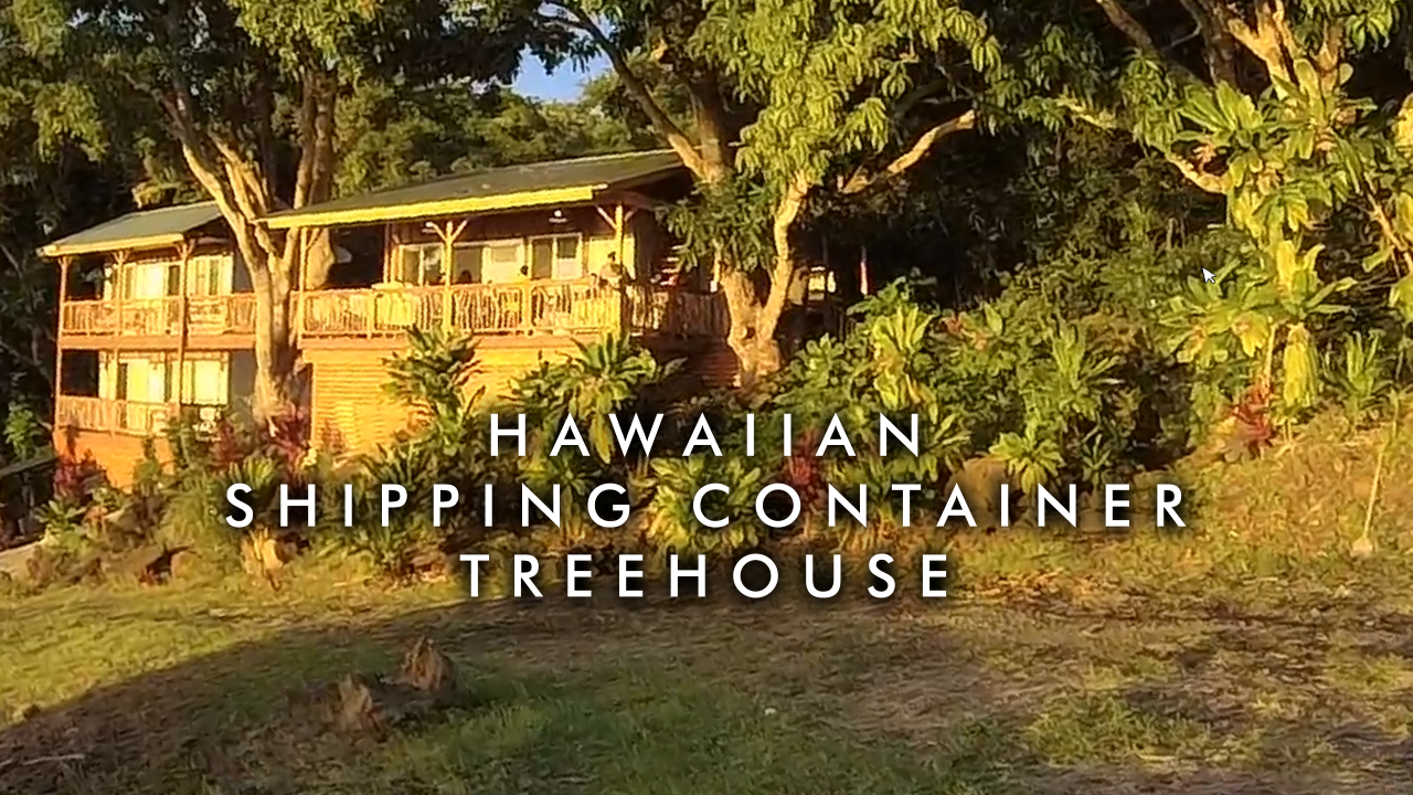 Hawaiian Shipping Container Treehouse
